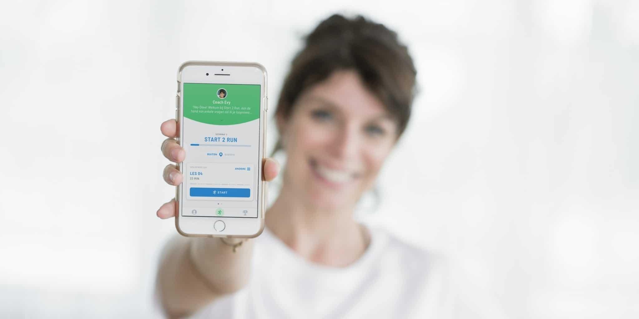 Evy Gruyaert met Hardlopen met Evy app