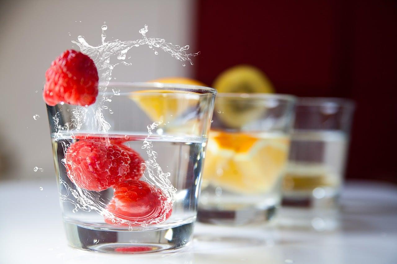 drink water voor, tijdens na je training